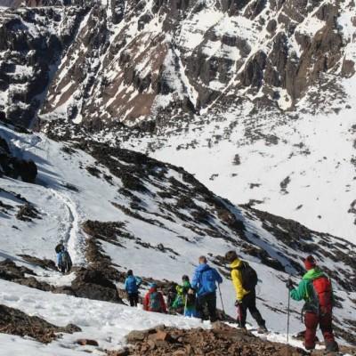 Vandring mot Marockos högsta topp, Atlasbergen.