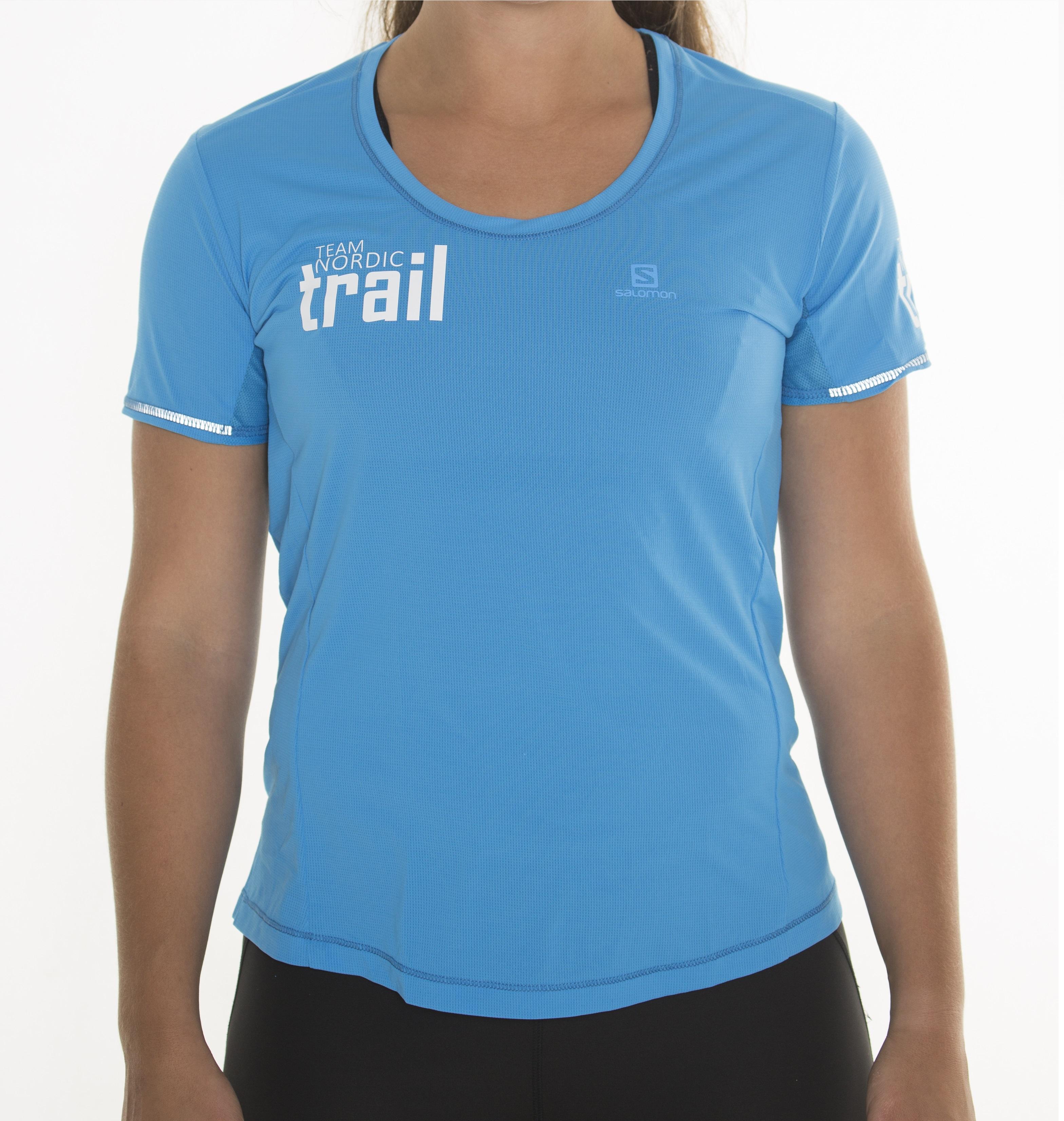 18ebfbec9f51 NYHET! T-shirt dam blå agile Salomon
